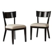 SEI Paolo 2-Piece Faux Leather Dining Chair Set, Black/Cream