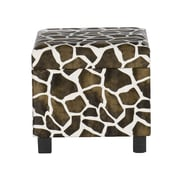 SEI Faux Leather Storage Ottoman, Giraffe