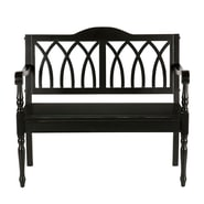 SEI Granbury Hardwood Bench, Antique Black