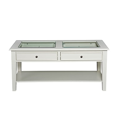 SEI Panorama Wood/Veneer Cocktail Table, White, Each (CK1130)