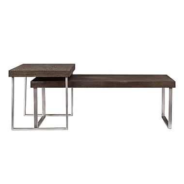 SEI Nolan Wood/Veneer Sets Table, Oak, Each (CK4040)