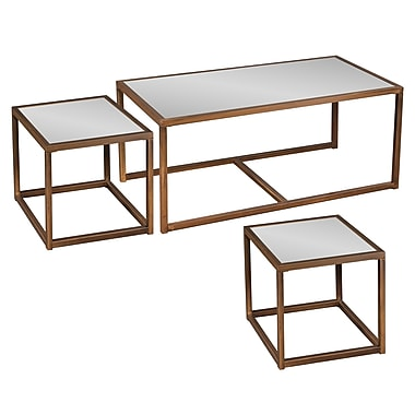 SEI Nested Glass Sets Table, Bronze, Each (CK4047)