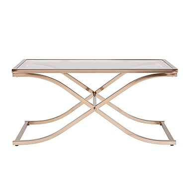 SEI Vogue Glass Cocktail Table, Gold, Each (CK6940)