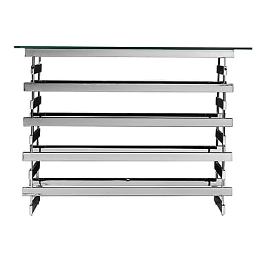 SEI Hoxley Glass Console Table, Chrome, Each (CK7373)