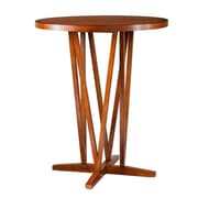 SEI Devon 43 Rubberwood Bar Table, Pecan Brown