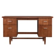 SEI Modern MDF Writing Desk, Exotic Wood