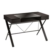 SEI Rexton MDF Desk With Glass, Black