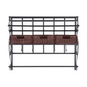 SEI Wall-Mount Craft Storage Rack With Baskets
