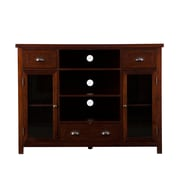 SEI Porter Gaming/Media Console TV Stand With Glass Doors, Espresso