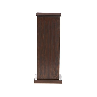 SEI Wood Media Storage Pedestal, Espresso