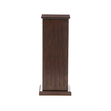 SEI Wood Media Storage Pedestal, Espresso