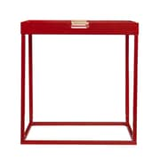 SEI Reginold Indoor/Outdoor Butler Metal Accent Table, Red