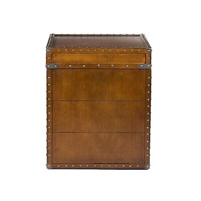 SEI Steamer Wood End Table, Walnut, Each (OC4190) 1059307