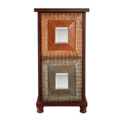 SEI Medina 36 1/2 MDF Storage Cabinet, Distressed Red