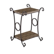 SEI 26 Leopard Animal Print Metal Accent Table