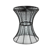 SEI Indoor/Outdoor Round Metal Accent Table, Black