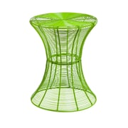 SEI Indoor/Outdoor Round Metal Accent Table, Green
