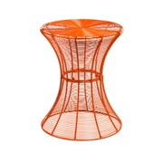 SEI Indoor/Outdoor Round Metal Accent Table, Orange