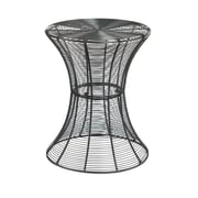 SEI Indoor/Outdoor Round Metal Accent Table, Silver