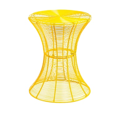 SEI Indoor/Outdoor Metal End Table, Yellow, Each (OC7605)