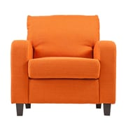 SEI Kellyton Polyester Arm Chair, Orange