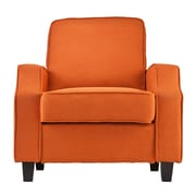 SEI Parkdale Polyester Arm Chair, Orange