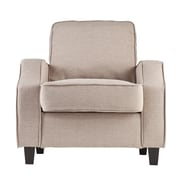 SEI Parkdale Polyester Arm Chair, Oyster