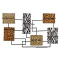 SEI Catnice 29in. Metal Animal Print Wine Storage Wall Sculpture