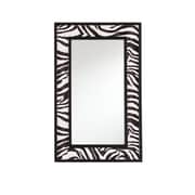 SEI 32 x 20 x 1 1/2 Zebra Animal Print Decorative Mirror