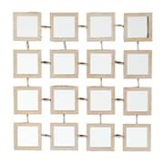 SEI 15 x 15 1/4 x 1 Checken Mirrored Grid Wall Panel Set, Sandblasted Gold, 4-Piece/Set
