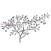 SEI Brenchan Metal/Glass Tree Wall Sculpture