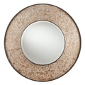 SEI 31in. x 1.75in. Clarissa Wall-Mount Mirror, Antique Silver