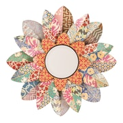 SEI 33 x 2 1/2 Decorative Floral Mirror, Multicolor