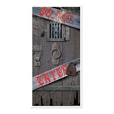 Affiche de porte d'Halloween effrayante, 30 po x 5 pi, paq./3
