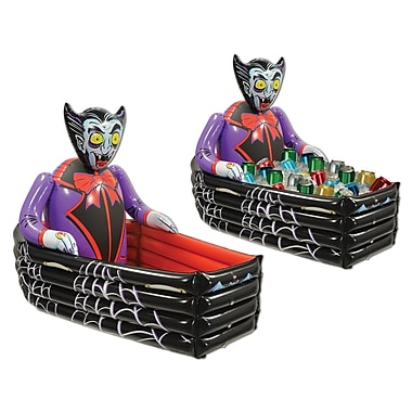 Inflatable Vampire and Coffin Cooler, 3' 6