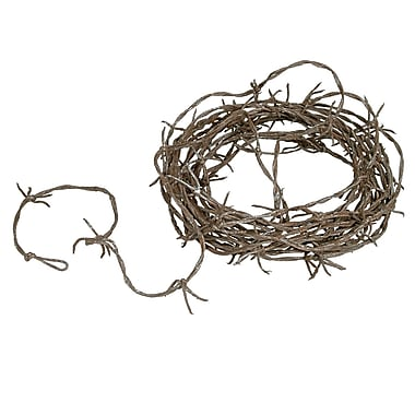 Barbed Wire Garland, 12', Rusty, 2/pack