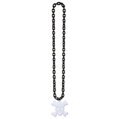 Chain Beads with Skull and Crossbones Medal, 36