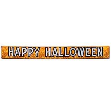 Metallic Happy Halloween Banner, 10
