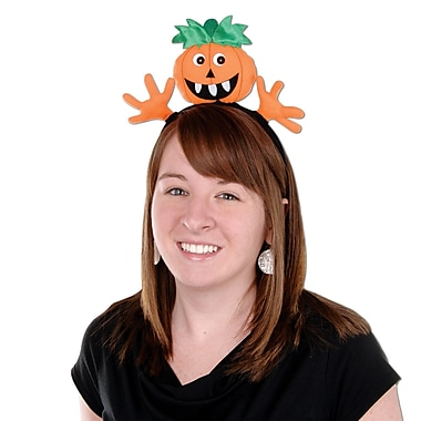 Pumpkin Headband, One size fits most, 2/pack