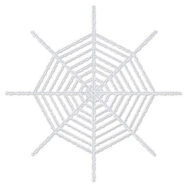 Giant Shimmering Spider Web, 6', White