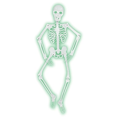 Mr Bones-A-Glo Skeleton, 5', 2/pack