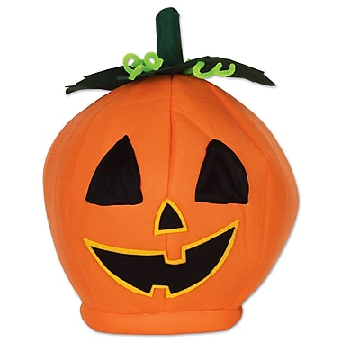 Plush Pumpkin Head Hat, One size fits most, 2/pack