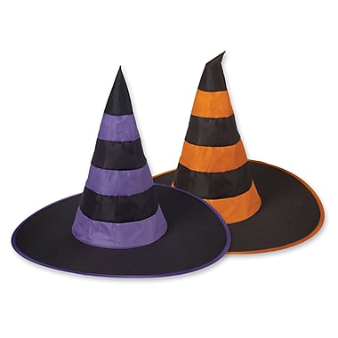 Nylon Witch Hats, One size fits most, 12/pack