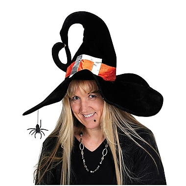 Deluxe Plush Witch Hat, One size fits most