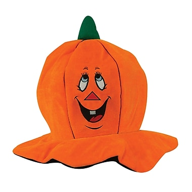 Plush Silly Jack-O-Lantern Hat, One size fits most, 2/pack