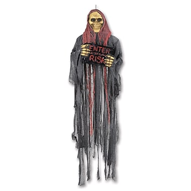 Grim Reaper with Sign Creepy Creature, 5' 3