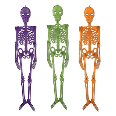 Plastic Skeletons, 4', 12/pack
