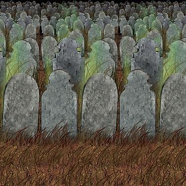 Toile de fond cimetière, 4 pi x 30 po
