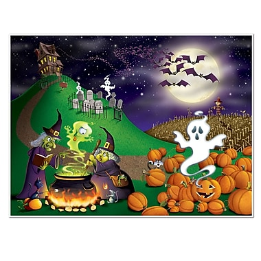 Beistle 5' x 6' Halloween InstaMural Wall Decoration, 2/Pack