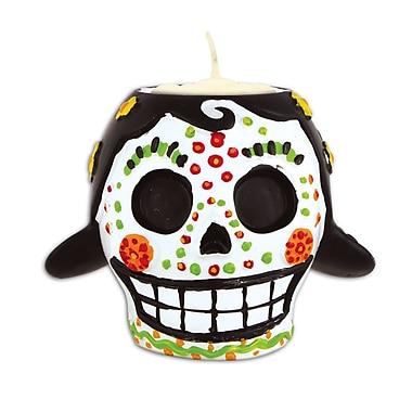 Beistle Day Of The Dead Female Tea Light Holder, 3/Pack